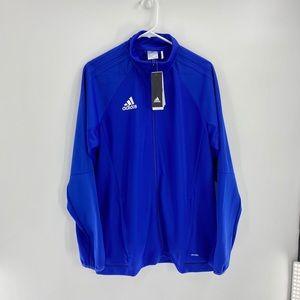 Men's Blue Adidas Trio 17 Training Jacket Size L